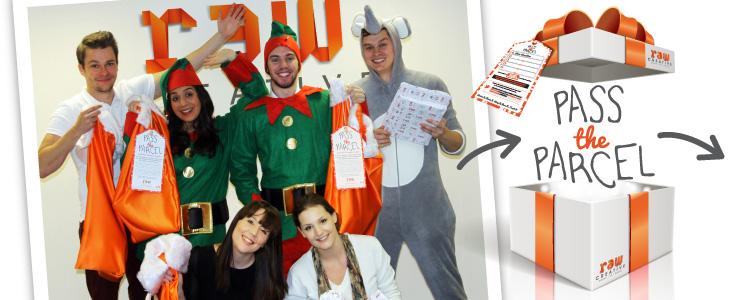 Raw pass the parcel campaign tests Harrogate's festive spirit